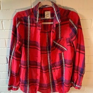 American Eagle Vintage Boyfriend Plaid Shirt